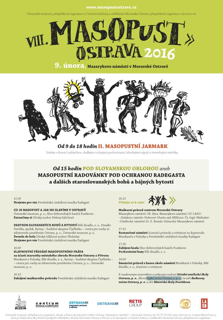 Plakát Masopust Ostrava 2016
